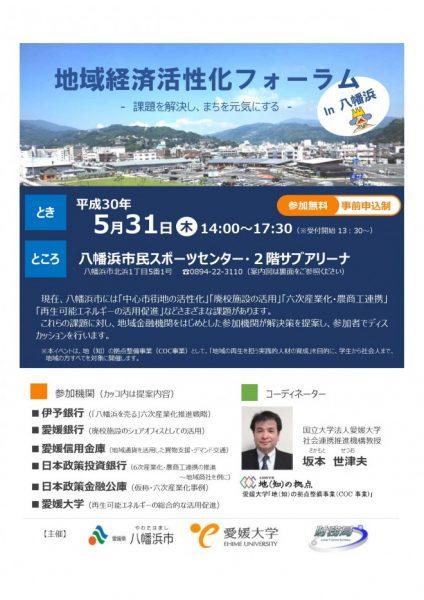地域経済活性化フォーラムin八幡浜 @ 八幡浜市民スポーツセンター 2階 サブアリーナ | 八幡浜市 | 愛媛県 | 日本